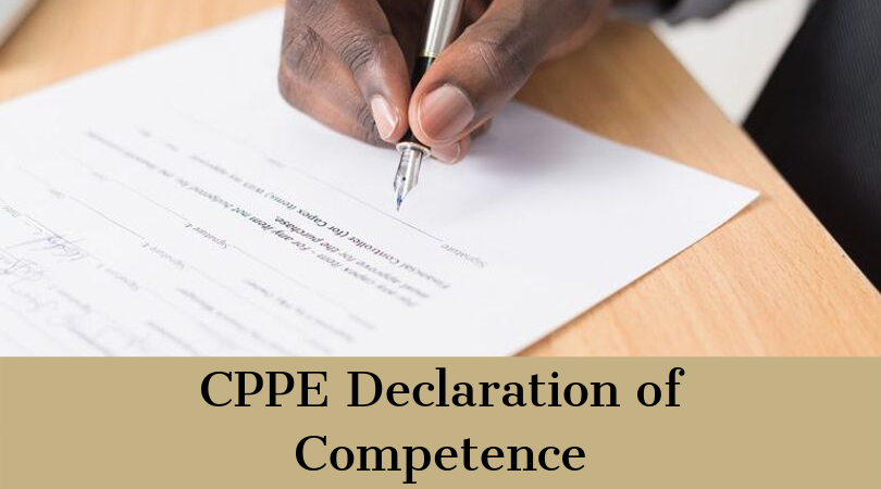 CPPE Declaration of Competence